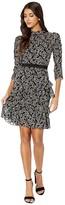 Rebecca Taylor Long Sleeve Celia Lace Dress (Black Combo) Women's Dress
