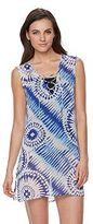 Apt. 9 Women's Sleeveless Lace Up Tie Dye Cover-Up