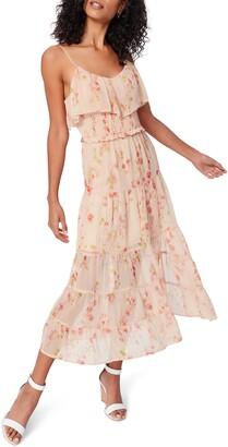 Paige Kalani Floral Print Midi Dress