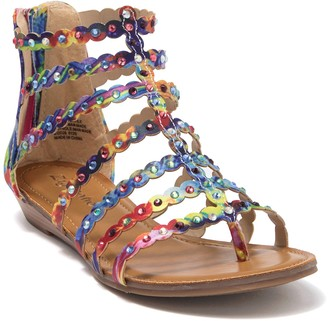 Zigi Maryam Embellished Caged Sandal