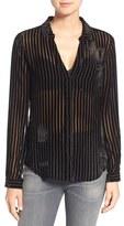 Paige Women's Linara Velvet Stripe Blouse
