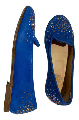 Gallucci Blue Leather Ballet flats