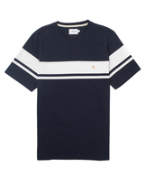 Farah Short Sleeve Crew Neck T-Shirt with Stripe