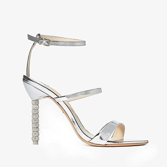 Sophia Webster Rosalind Crystal Sandal (Silver) Women's Shoes