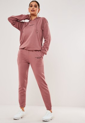 Missguided Rose Hoodie And Joggers Co Ord Set