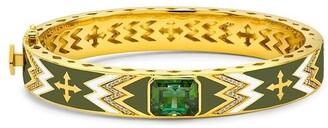 BUDDHA MAMA 20kt Yellow Gold Diamond Arrow Bangle