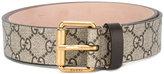 Gucci GG Supreme snake print belt - men - Leather - 95
