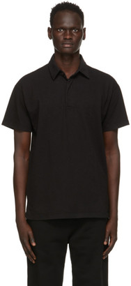LES TIEN Black Rugby Polo