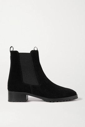 AEYDĒ Karlo Suede Chelsea Boots - Black