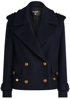 Balmain Double-Breasted Pea Coat