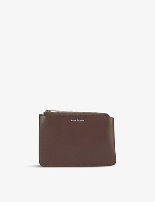 Acne Studios Malachite brand-embossed leather wallet