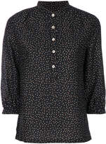 Vanessa Seward speckled button-up blouse