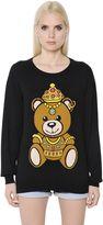 Moschino Teddy Bear Intarsia Cotton Sweater
