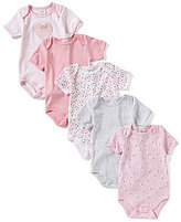 Starting Out Baby Girls Newborn-6 Months 5-Pack Heart Bodysuits