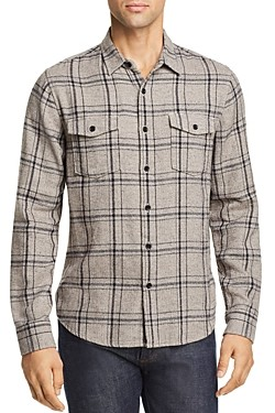 Frame Plaid Double Flap-Pocket Regular Fit Shirt