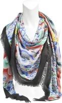 Mary Katrantzou 140x140 Rainbow Cloud scarf