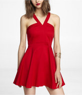 Express Halter Style Fit And Flare Dress