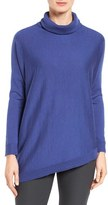 Eileen Fisher Asymmetrical Merino Jersey Turtleneck (Regular & Petite)