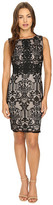 Sangria Sleeveless Textured Lace Sheath Dress