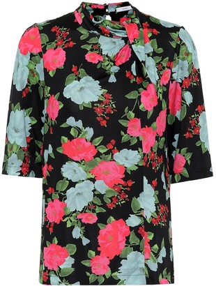 Erdem Kacey floral jersey top