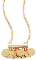 Trina Turk Goldtone Disc Pendant Necklace