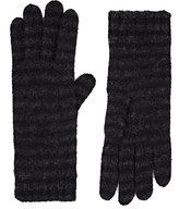 Barneys New York Women's Striped Cashmere-Blend Gloves-BLACK