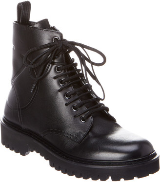 Valentino Vlogo Leather Combat Boot