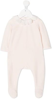 Chloé Kids Logo Monogram Collar Baby Grow