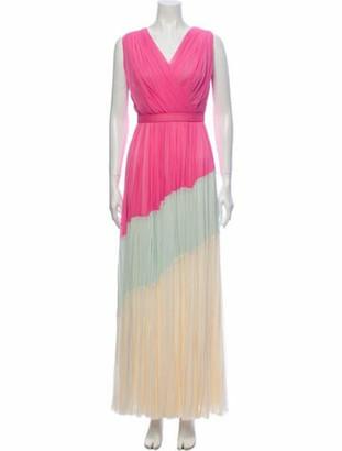 J. Mendel Silk Long Dress Pink