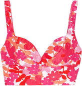 Michael Kors Floral-jacquard Bustier Top - Bright pink