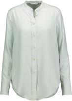 Helmut Lang Pinstriped washed-silk shirt