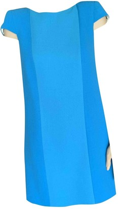 Fausto Puglisi Turquoise Wool Dress for Women