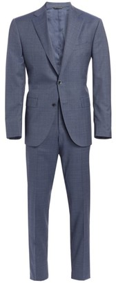 Saks Fifth Avenue COLLECTION Subtle Plaid Two-Button Wool Suit