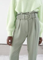 And other stories Belted Paperbag Waist Trousers