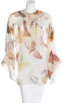 Alexander McQueen Butterfly Print Chiffon Top