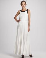 Rachel Zoe Braden Pleated Two-Tone Gown