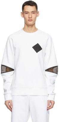 Fendi White Forever Patch Sweatshirt