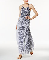 MICHAEL Michael Kors Pleated Zebra-Print Maxi Dress
