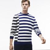 Lacoste Men's Crew Neck Off-center Stripes Cotton T-Shirt
