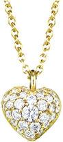Finn Pave Diamond Puffed Heart Pendant - Yellow Gold