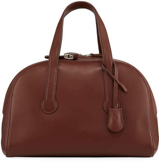 The Row Sporty Bowler 12 Bag in Smooth Leather