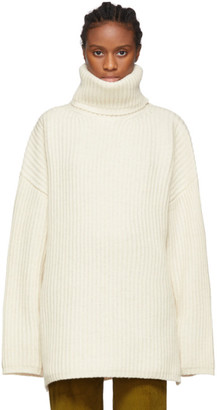 Acne Studios Off-White Ribbed Turtleneck