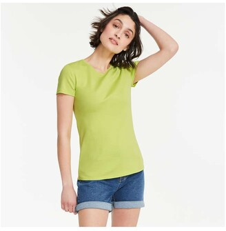 Joe Fresh Women's Essential Crew Neck Tee, Lime Green (Size XL)