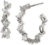 Carolee Embellished Hoop Earrings