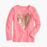 J.Crew Girls' sequin heart T-shirt