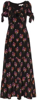 Borgo de Nor Ophelia Floral Print Silk Dress