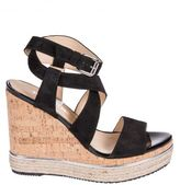Hogan Woven Wedge Sandals