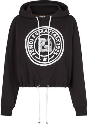 Fendi Roma Joshua Vides toggle detail hoodie