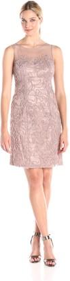 SL Fashions Women's Illusion Top Sheath Dress