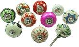 Ibacrafts Ceramic Drawer Knob Multicolor Lot Of 10 Pcs Cupboard Pulls Decorative Knobs